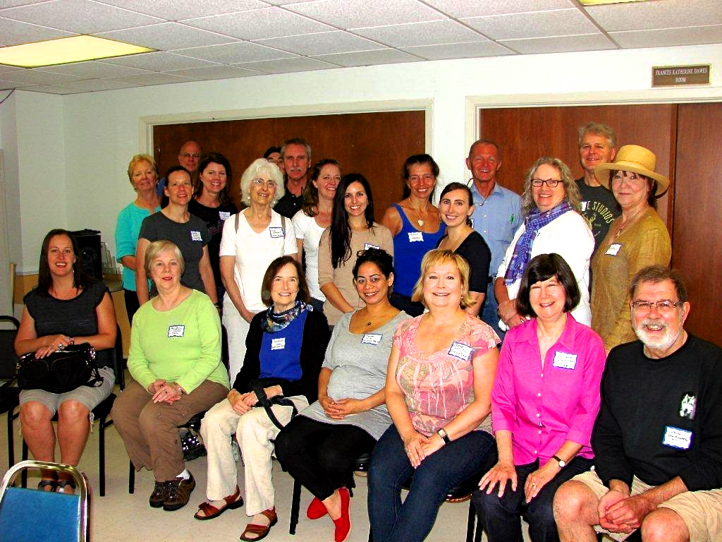 Some of VaHi's Street Captains pose for a group photo at a recent meeting.