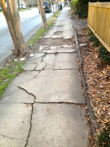 Atlanta North Highland sidewalk