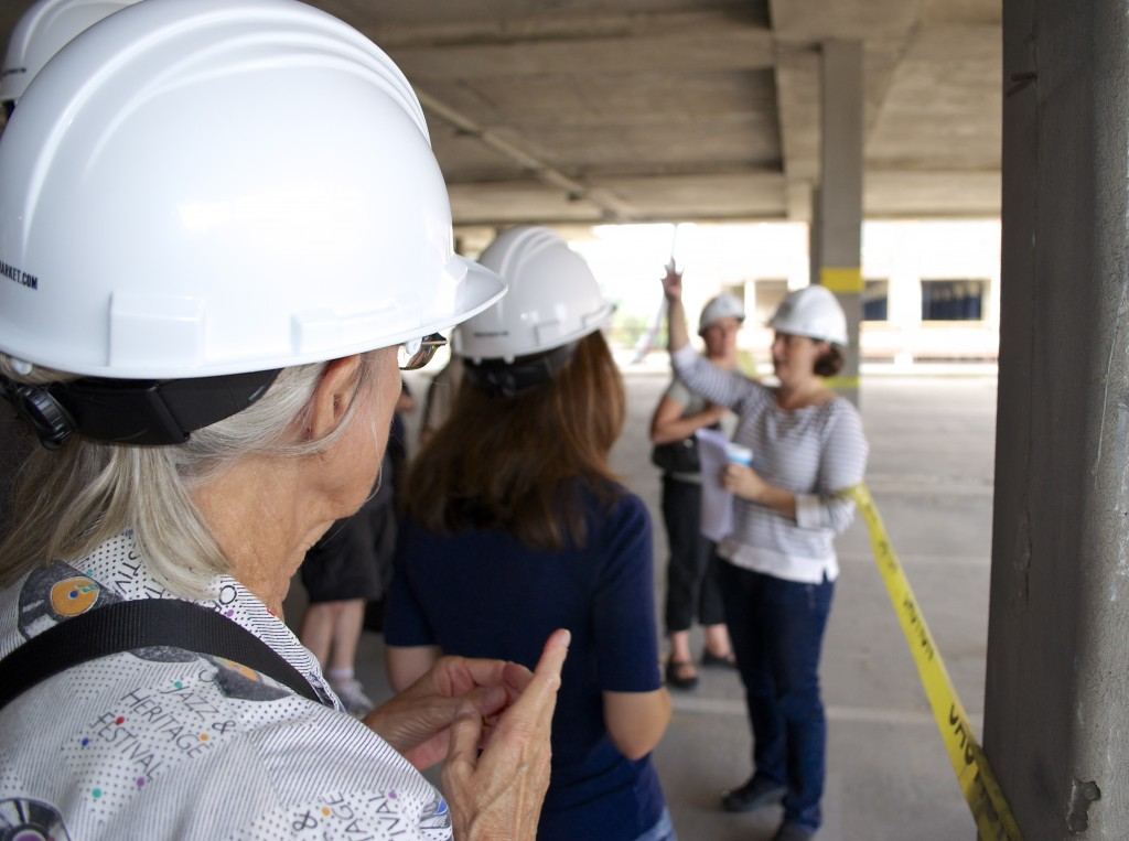 Hard hats donned, we begin our tour.