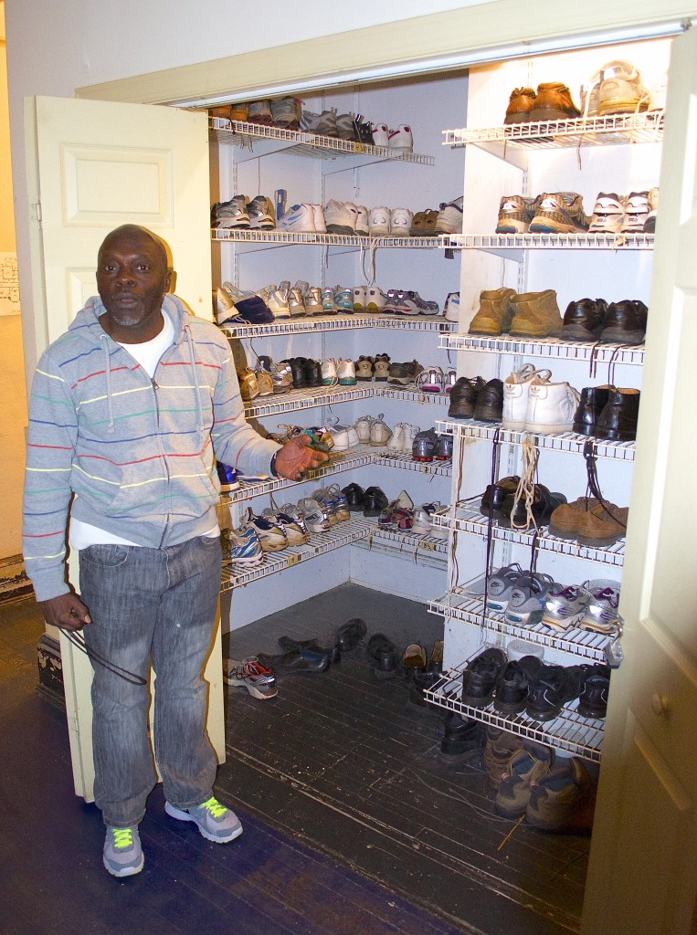The community is in dire need of men's shoes, especially size 12 and up.