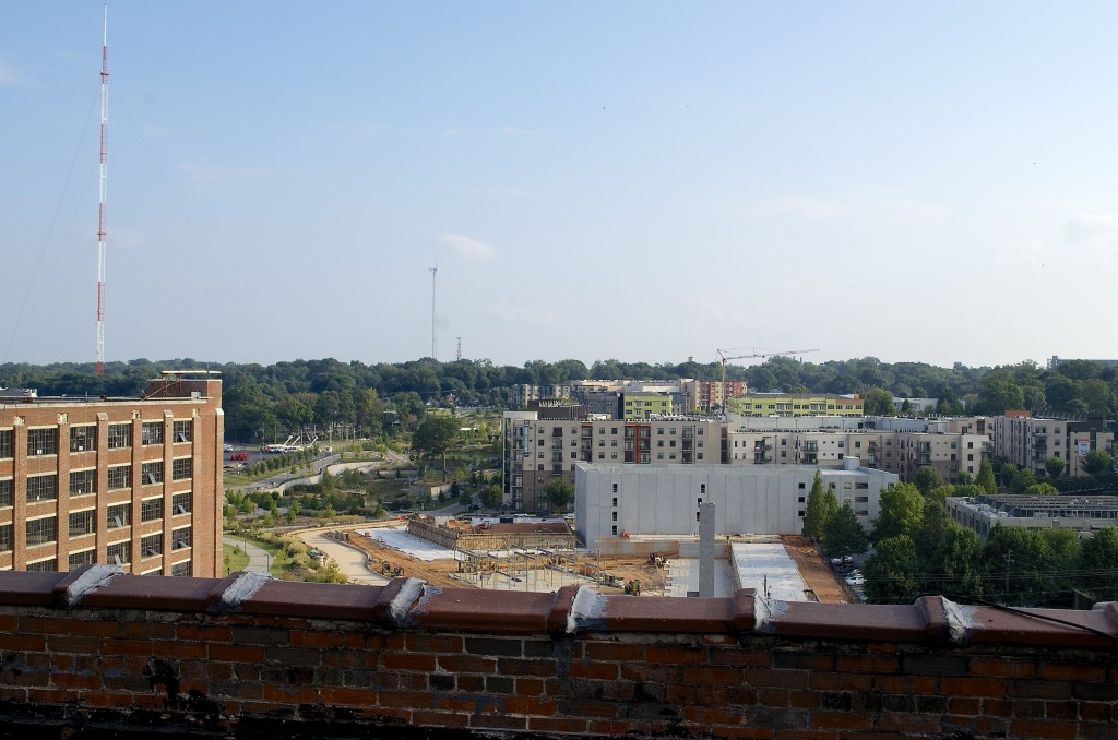 This south-looking view from the roof shows just a glimpse of the development that's taking place along the BeltLine Eastside Trail.