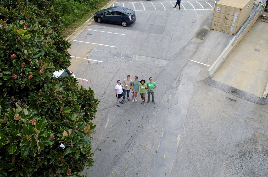 Shot of the Trees Atlanta gang from the cherry picker. Thanks for inviting me, guys...I had fun!