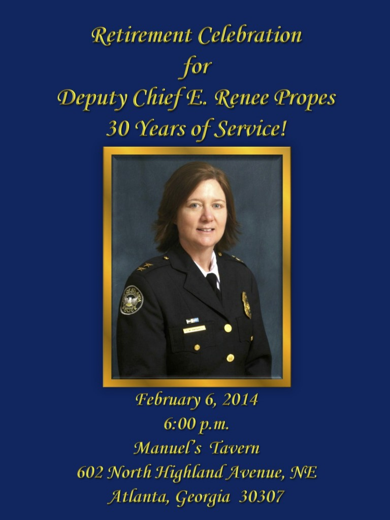 Deputy Chief Propes' Retirement Celebration Flyer