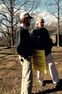 City of Atlanta Parks Dept. Arborist Chris Kalio (l) and VHCA Board President Jack White