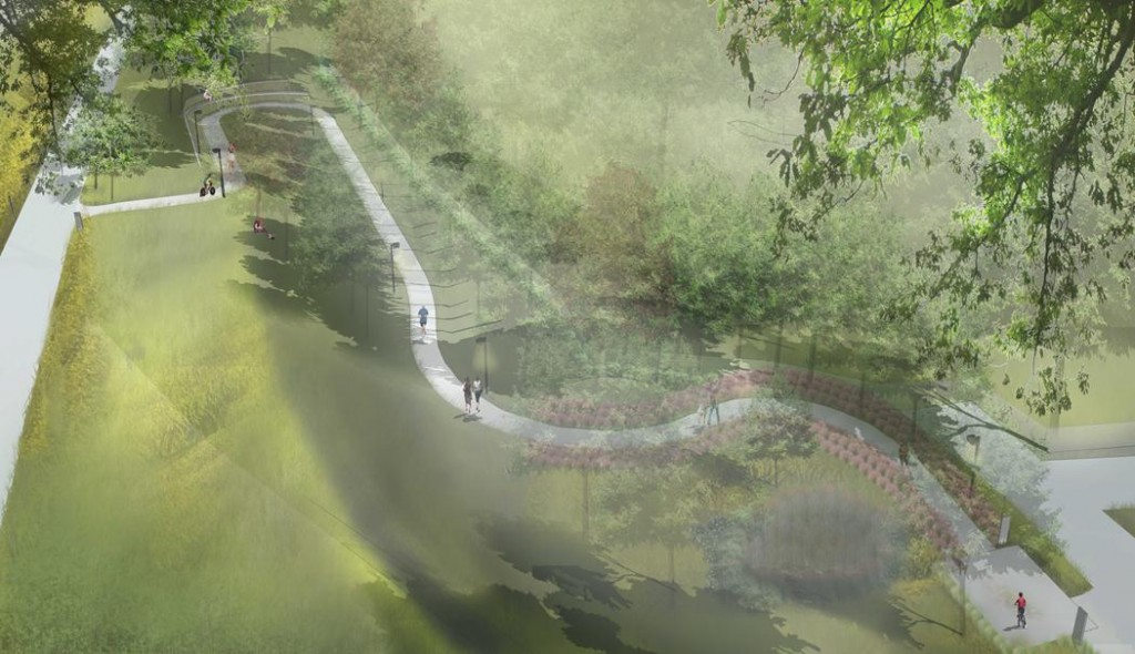 Artist rendering of gateway courtesy Atlanta BeltLine
