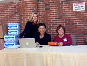Organizers man the volunteer check-in table during last year's Tour of Homes.