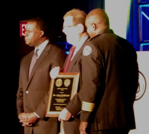 Wolfinger received his award from Mayor Kasim Reed and APC Chief George Turner