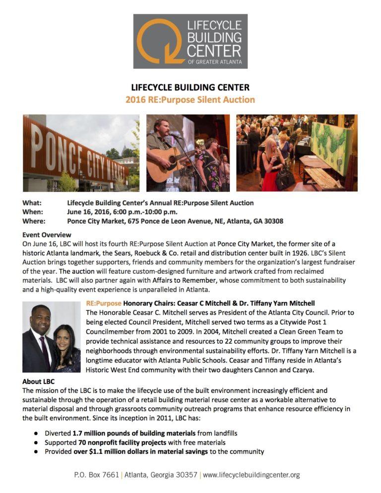 LBC 2016 REPurpose Auction Flyer
