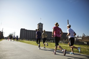 Running by Ponce City Market
